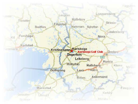 Sweden Golf Courses Central West Sweden Golf Courses Karlskoga - Karlskoga sweden map